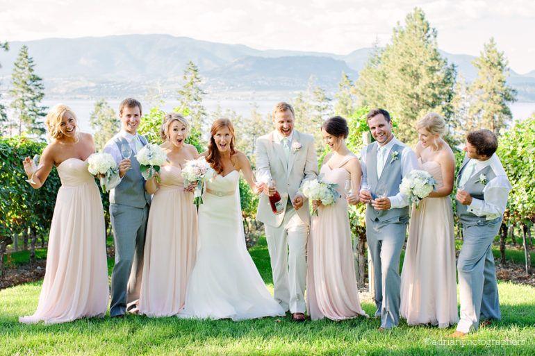 Пестрая свадьба в розово-голубых тонах