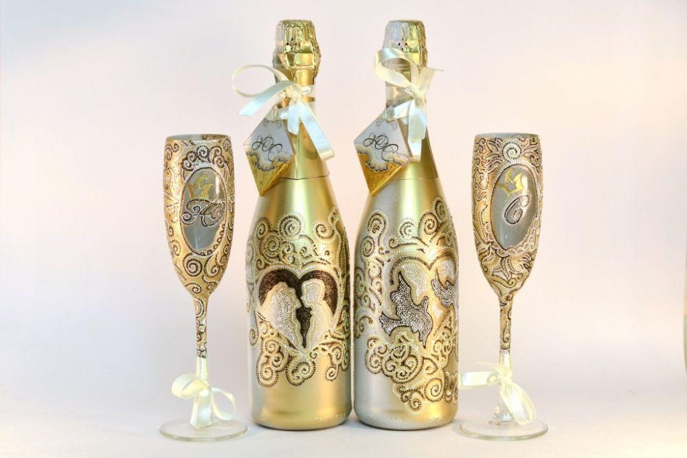 foto-0-71 Декупаж бутылки шампанского своими руками